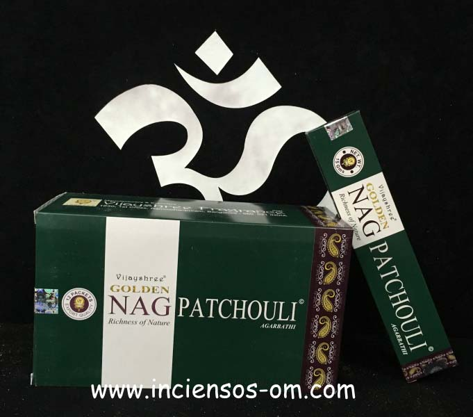 Incienso Golden Nag Patchouli Vijayshree