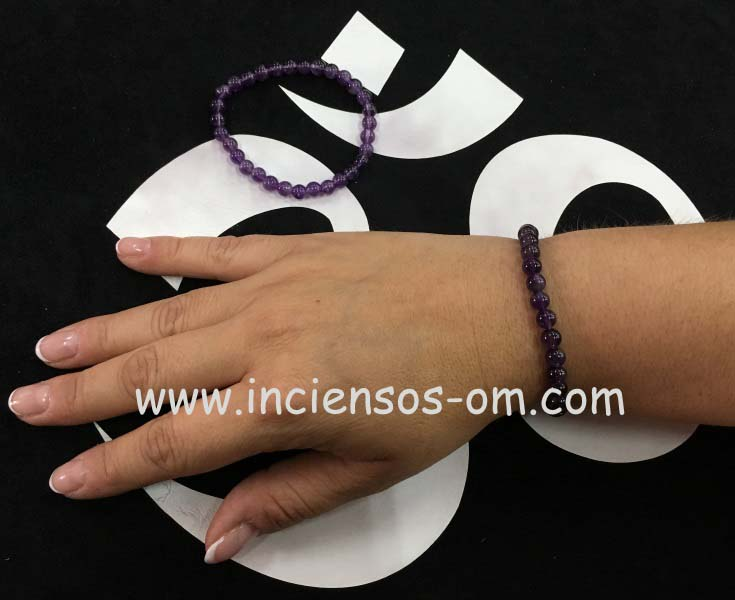 Pulsera Amatista bola 6mm